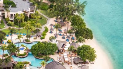 Extensión de playa en Isla Mauricio